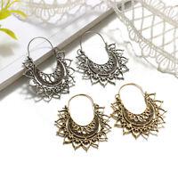 2018 Fashion Love Heart Metal Earring Lotus Flower Earrings Women Jewelry