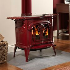 Vermont Castings Wood Stove Intrepid II Catalytic Burning BORDEAUX RED