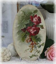 "~ ""Red Roses and Grapes...""~Shabby Chic~Country Cottage style~Wall Decor Sign ~"