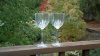 """SET  of  2  WATERFORD MARQUIS OMEGA WINE ALL PURPOSE 8 1/2"""""""