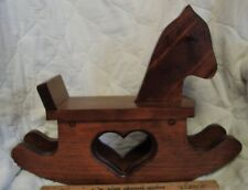 Wooden Rocking Horse, 12 inches, Heart cutout
