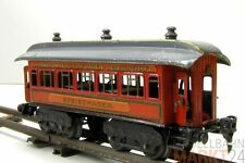 BING 10241 Schlafwagen mit Einrichtung / Figur vierachsig dunkel rot für Spur 0