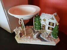 Vintage Yankee Candle Darling Christmas Village Wax Tart Warmer/ Burner