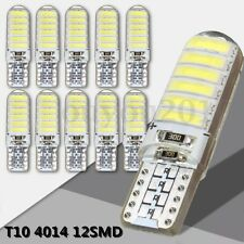 10x T10 194 168 W5W 12-SMD 4014 LED Silica Bright White License Light Bulb 6000K