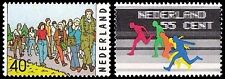NVPH 1092-1093 POSTFRIS SPORTPOSTZEGELS 1976