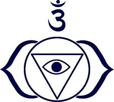 3rd Eye Chakra -Buddhist Yoga -vinyl sticker decal- car van laptop 10x9cm