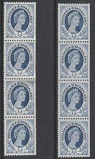 Rhodesia & Nyasaland 3440 - 1954 1d COIL STRIPS both shades unmounted mint
