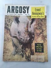 Argosy Complete Man's Magazine Back Issue Ernest Hemingway June 1954
