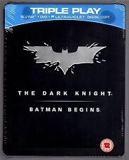 THE DARK KNIGHT / BATMAN BEGINS 5-DISC BLU-RAY STEELBOOK NEU & OVP DEUTSCHER TON