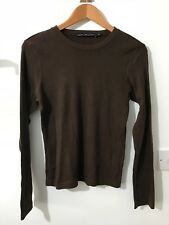 Ralph Lauren sport Ladies 100% Cotton long sleeved perfect tee shirt Brown
