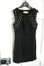 COTTON CLUB BLACK LACED DRESS SHORT GOTHIC PERIOD MEDIEVAL 8 10 TOP