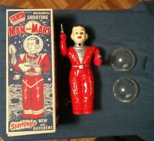 1952 IRWIN MAN FROM MARS Wind Up Toy ASTRONAUT Complete & Working with Repro Box
