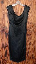 60s Vintage Black Satin Slip