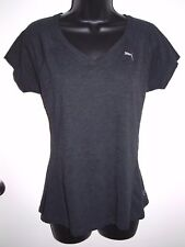Puma Size Medium Womens Dry Cell Fitted Grey V Neck T Shirt