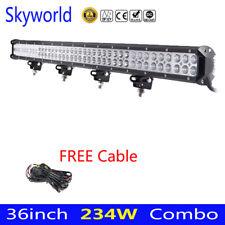 36inch 234W Combo LED barra ligera de trabajo SUV ATV Cable de conducción