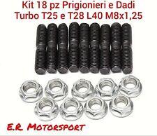KIT 9 PERNI Colonnette Prigionieri e Dadi per Collettori e Turbo M8x1,25 L. 40mm