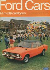 CAR BROCHURE: FORD CARS - SEPTEMBER 1975 (ESCORT/CORTINA/CAPRI/CONSUL/GRANADA)