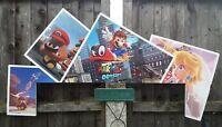 UK VIDEO GAME STORE DISPLAY SIGN ' SUPER MARIO ODYSSEY ' NINTENDO SWITCH