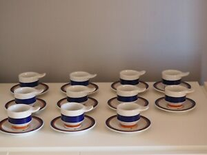 11 Tazzine RICHARD GINORI  ARISTON caffè porcellana Vintage modernariato Italy