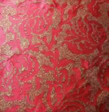 ART DECO POM 100%SILK JARQUARD BORDEAUX BURGUNDY RED BTY (751BORDEAUX)