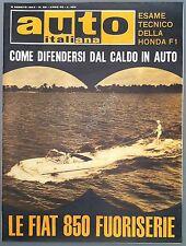 Auto Italiana - Anno 45 - N° 32 - 1964 - Le Fiat 850 Fuoriserie