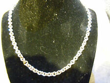 "NEW 22"" PURE SILVER .999 SMALL CIRCLE LINK NECKLACE BY ANARCHY PM JEWELRY #A1"