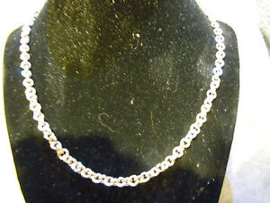"""NEW 22"""" PURE SILVER .999 SMALL CIRCLE LINK NECKLACE BY ANARCHY PM JEWELRY #A1"""