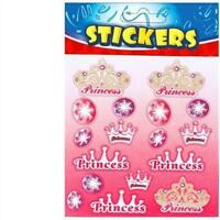 6 Princess Sticker Sheets - Pinata Toy Loot/Party Bag Fillers Wedding/Kids