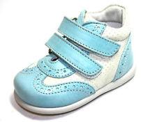 Bottines bleues en cuir pour bébé
