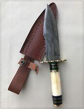 Beautiful CUSTOM HAND MADE DAMASCUS STEEL HUNTING KNIFE 12 inch