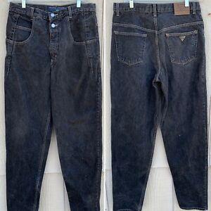 Vintage Guess Jeans Pascal Black W 31 (meaures 32) L 34 (measures 34 1/2)