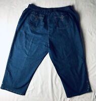 Cathy Daniels ~ Jean Capris ~ Crop pants ~ 2x ~ women's size 2X ~ elastic waist