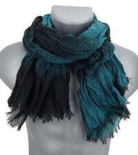 Bufanda hombre negro azul petróleo de rayas Ella Jonte Fashion Chal Viscosa