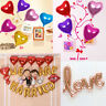 5PCS Colorful Love Heart Foil Balloon Birthday Wedding Party Anniversary Decor