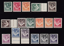 Northern Rhodesia. Mint selection. 1/2d to 9d.