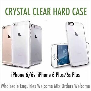 CRYSTAL CLEAR THIN HARD CASE COVER FOR iPHONE 6/6s IPHONE 6/6s PLUS