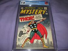 Journey Into Mystery #89 CGC 7.0 OW/White Pages Early Key Thor Classic Cover