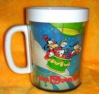 Vintage Thermo Serv Walt Disney World Mug Donald Goofy Mickey Minnie