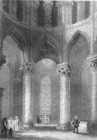 CANTERBURY CATHEDRAL CHURCH BECKET CORONA, 1838 Architecture Art Print Engraving