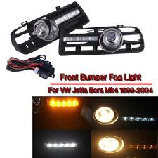 2x For 97-06 VW GOLF MK4 Bumper Grille Driving Lamp Fog Light LED Switch Harness