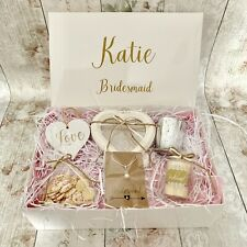 Personalised Bridesmaid Gift Box Hamper Thank You Shabby Chic Wedding