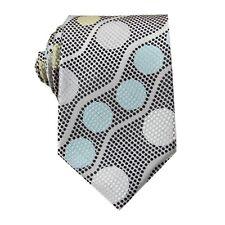 Grey Blue Floral 3.4'' 100% Silk Jacquard Classic Woven Man's Tie Necktie FS26