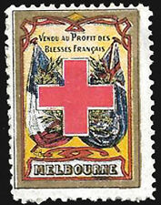 1914 - 1916 WWI Delandre Red Cross -  Melbourne Rarity