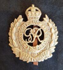 WW2 Sand Cast British Army Royal Engineers Cap Badge. Indian, Burma, Chindits?