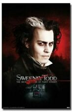 SWEENEY TODD ~JOHNNY DEPP PORTRAIT ~ 24x36 MOVIE POSTER ~ Demon Barber