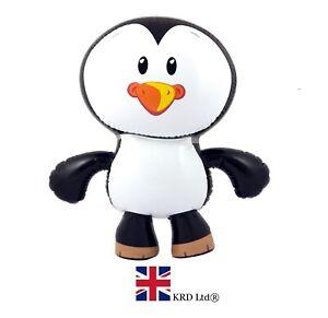 INFLATABLE PENGUIN Blow Up Toy Animal Kids Party Bag Filler Favors Gift 56 cm UK