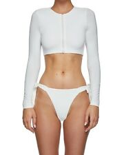 MYRA SWIM - Zhara Side Tie Bikini Bottom Vanilla White - S NWT