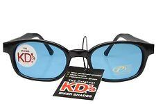 KD's Sunglasses Original Biker Shades Motorcycle Black Turquoise Lens 2129