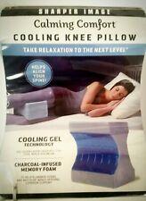 Sharper Image Cooling Knee Pillow Calming Comfort Cool Gel Technology