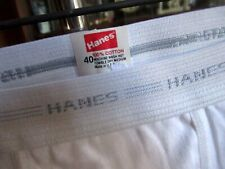 40 True Vtg 90s HANES GRAY STRIPED BAND-WHITE BRIEF-USA MADE-TW NOS NWOT